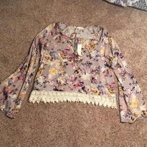 NWT Lovestitch Long Sleeve Top